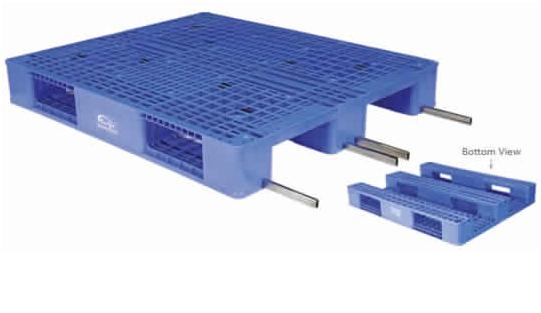 Steel reinforced plastic pallets  1